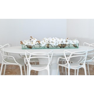 Link to Casa Moderna Glass Plate Planter with Fuax Orchids Similar Items in Decorative Accessories