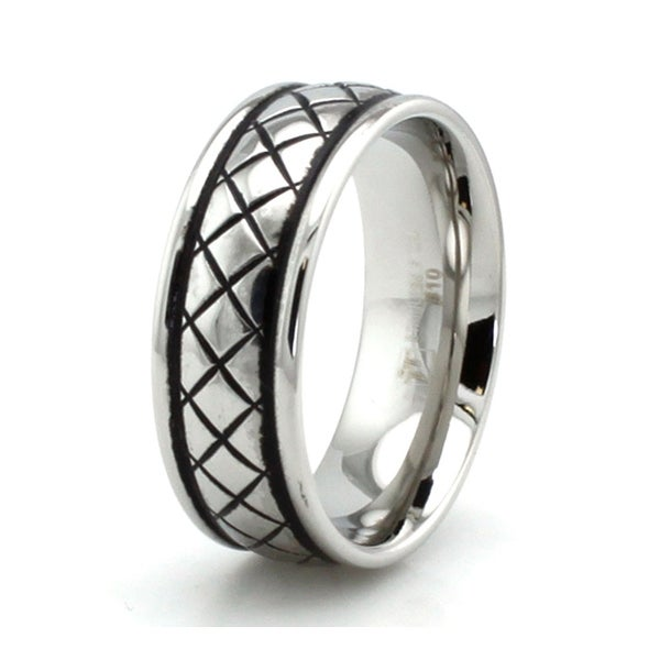 Stainless Steel Braided Pattern Ring