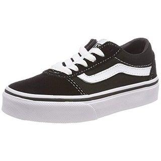 Vans Unisex Kids' Ward Low-Top Sneakers, (Suede/Canvas) Black/White Iju, 4.5 Uk 4.5 Uk