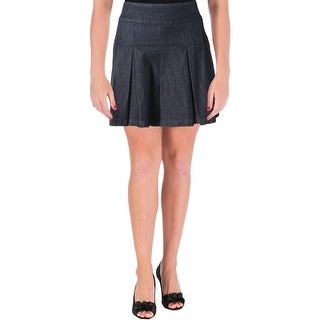 Guess Womens A-Line Skirt Pleated Mini