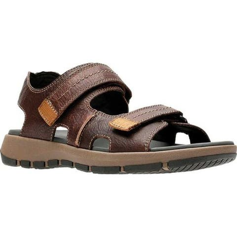 0f0542bbd Clarks Men s Brixby Shore Active Sandal Dark Brown Full Grain Leather