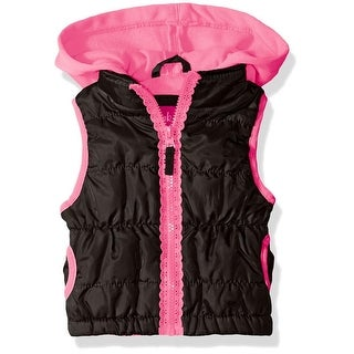 Pink Platinum Girls 2T-4T Lace Puffer Jacket