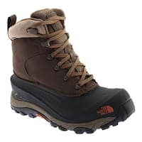 The North Face Men's Chilkat III Snow Boot Mudpack Brown/Bombay Orange