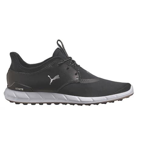Puma Men's Ignite Spikeless Sport Black/White Golf Shoes 189416-01