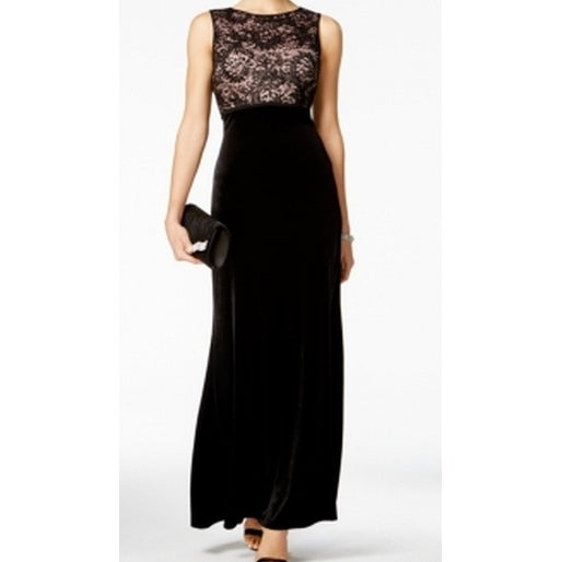 430666e19d9d6 Shop Nightway NEW Deep Black Womens Size 4 Lace Velvet Illusion Sheath Dress  - Free Shipping On Orders Over  45 - Overstock.com - 18551144