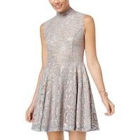 City Studio Womens Juniors Mini Dress Lace Sequined - 5
