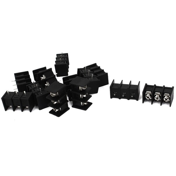 Unique Bargains 13Pcs ZB45 300V 20A 3 Poles 8mm Pitch Plastic Screw PCB Terminal Block Connector