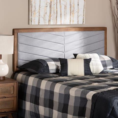 Iden Modern and Contemporary Wood Headboard -Light Grey
