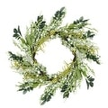"""12"""" Green and Brown Decorative Mixed Berry Artificial Spring Floral Twig Wreath - Unlit - Thumbnail 0"""
