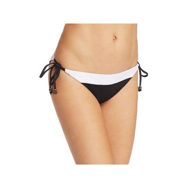 Shoshanna Womens Colorblock Side Tie Swim Bottom Separates