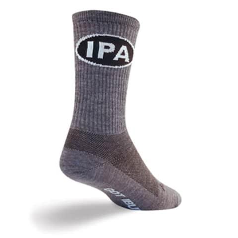 SockGuy Wool Crew 7.5in IPA Cycling/Running Socks