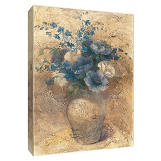 "PTM Images 9-154669  PTM Canvas Collection 10"" x 8"" - ""Vase of Larkspur"" Giclee Flowers Art Print on Canvas"