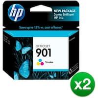 HP 901 Tri-color Original Ink Cartridge (CC656AN)(2-Pack)