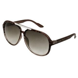 Women Brown Leopard Printed Frame Square Lens Sunglasses