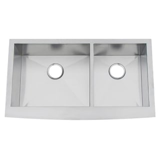 "Artisan CPAZ3621-D10/10 35-3/4"" Double Basin Farmhouse Stainless Steel Kitchen Sink with V-Therm Shield Technology from the Chef"
