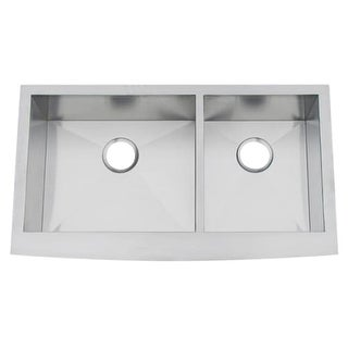 """Artisan CPAZ3621-D10/10 35-3/4"""" Double Basin Farmhouse Stainless Steel Kitchen Sink with V-Therm Shield Technology from the Chef"""