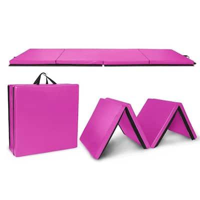 "8' x 2' x 2"" Folding Gymnastics Mat, Yoga Exercise Tumbling Mats"