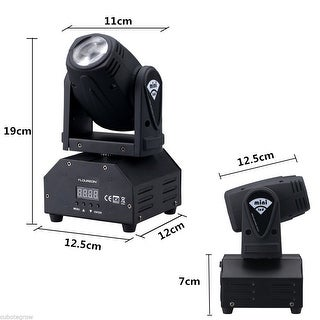 Mini RGBW LED Beam Spot Stage Light DJ Disco Club Moving Head Lighting DMX 13CH