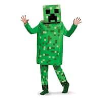 Boys Minecraft Creeper Deluxe Costume