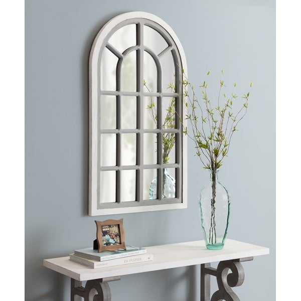 Kate and Laurel Boldmere Rustic Arch Wall Mirror. Opens flyout.