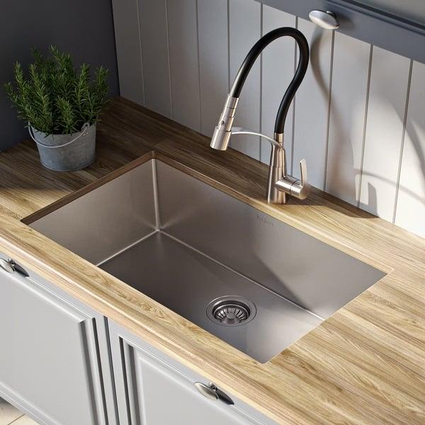 Kraus Standart Pro Stainless Steel 28 Inch Undermount Kitchen Sink Overstock 20678360