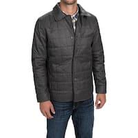 Tahari Men's Quilted Polyester Full-Zip Shirt-Jacket