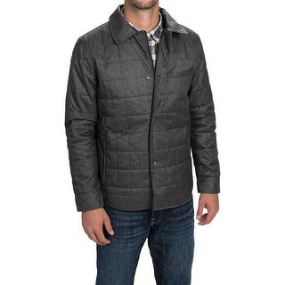 Tahari Men's Quilted Polyester Full-Zip Shirt-Jacket