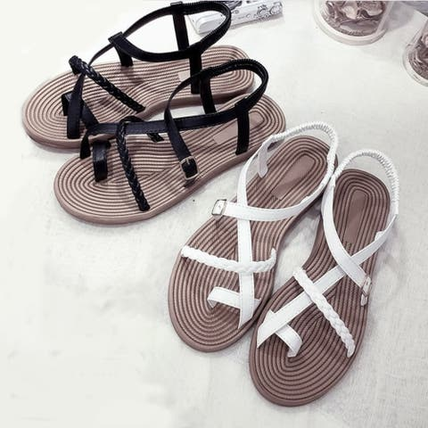Cabana Lady Textured Sole Sandals In 2 Colors