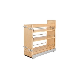 "Rev-A-Shelf 448-BDDSC-8C 448-BDDSC Series 12"" Two Tier Pull Out Upper Cabinet Organizer with 3 Shelves and Blumotion Slides"