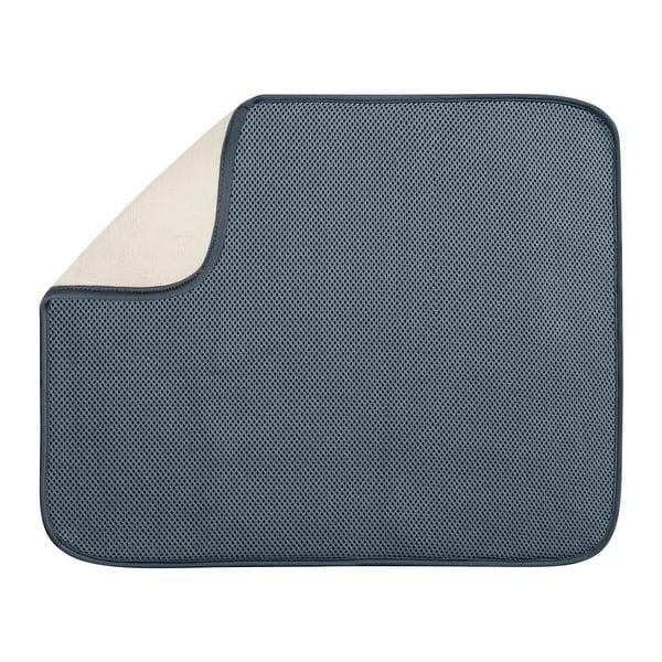 InterDesign 40132 Microfiber Drying Mat, Large, Pewter