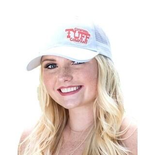 Cowgirl Tuff Western Hat Womens Glitter Logo Trucker White S00840