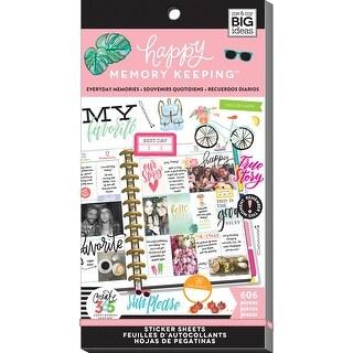 Create 365 Happy Planner Sticker Value Pack-Everyday Memories, 606/Pkg