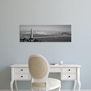 Easy Art Prints Panoramic Image 'Suspension bridge across sea, Golden Gate Bridge, San Francisco' Canvas Art