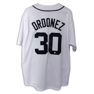 Magglio Ordonez Detroit Tigers Autographed White Jersey