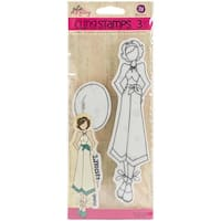 Prima Marketing 911379 Gina Julie Nutting Mixed Media Cling Rubber Stamps, White