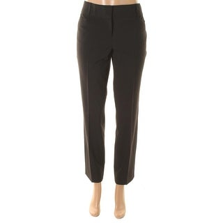 Laundry by Shelli Segal Womens The Natalie Stretch Slim Dress Pants