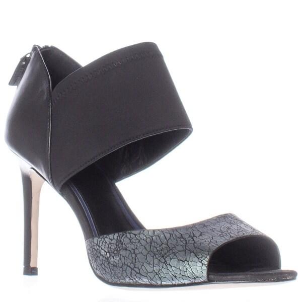 Elie Tahari Indra Open-Toe Heels, Nero/Black - 11 us / 41 eu
