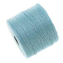 BeadSmith Super-Lon (S-Lon) Cord - Size 18 Twisted Nylon - Sky Blue / 77 Yard Spool