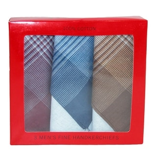 CTM® Men's Cotton Patterned Handkerchiefs (Pack of 3) - multi pack - One Size