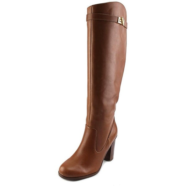 Tommy Hilfiger Mackenze Round Toe Leather Knee High Boot