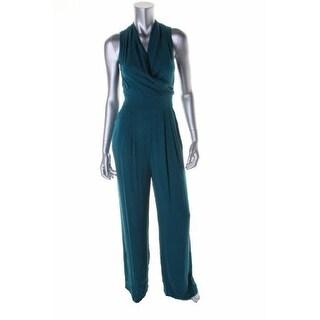 Catherine Malandrino Womens Marion Silk Surplice Jumpsuit - 10