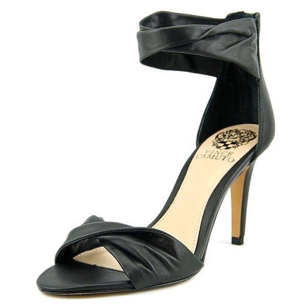 Vince Camuto Camden Women Open Toe Leather Black Sandals