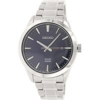 Seiko Men's  Silver Stainless-Steel Quartz Dress Watch