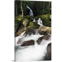 Premium Thick-Wrap Canvas entitled Mouse Creek Falls into Big Creek, Great Smoky Mountains National Park, Tennessee