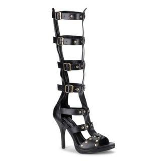 Womens Black Strappy Gladiator Heels