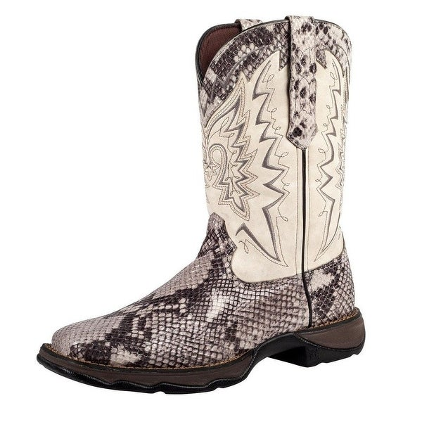 Durango Western Boots Womens Rebel Snake Oil Rocker Heel Cream