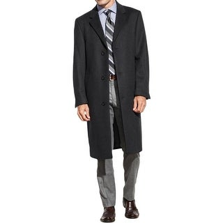 Izod Mens Coat Wool Blend Long Sleeves