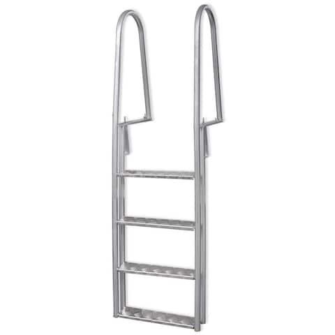 "vidaXL 4-Step Dock/Pool Ladder Aluminum 66.9"""