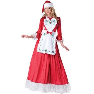 InCharacter Mrs. Claus Adult Costume - Red (4 options available)