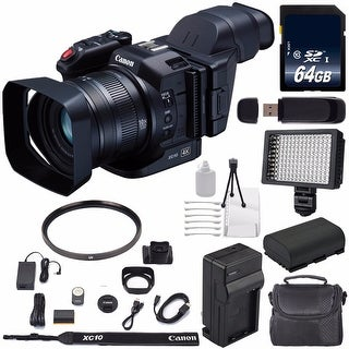 Canon XC10 4K Professional Camcorder #0565C013 (International Model) + 64GB SDXC Class 10 Memory Card + Condenser Mic Bundle